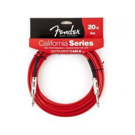 Fender California Instrument Cable - Candy Apple Red 18'
