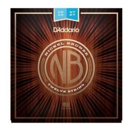 D'Addario NB1047-12 Nickel Bronze Acoustic, Light 12-String, 10-47