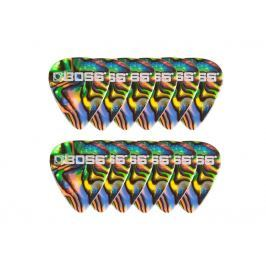 Boss BPK-12-AT Celluloid Pick Thin Abalone 12 Pack