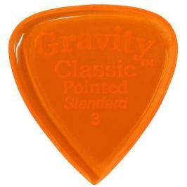 Gravity Picks GCPS3P Classic Pointed Standard 3.0mm Polished Orange