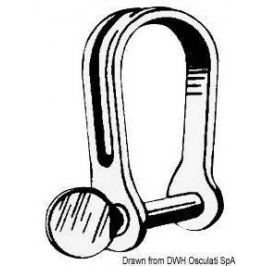 Osculati Strip Shackle Stainless Steel SHORT o 4 mm